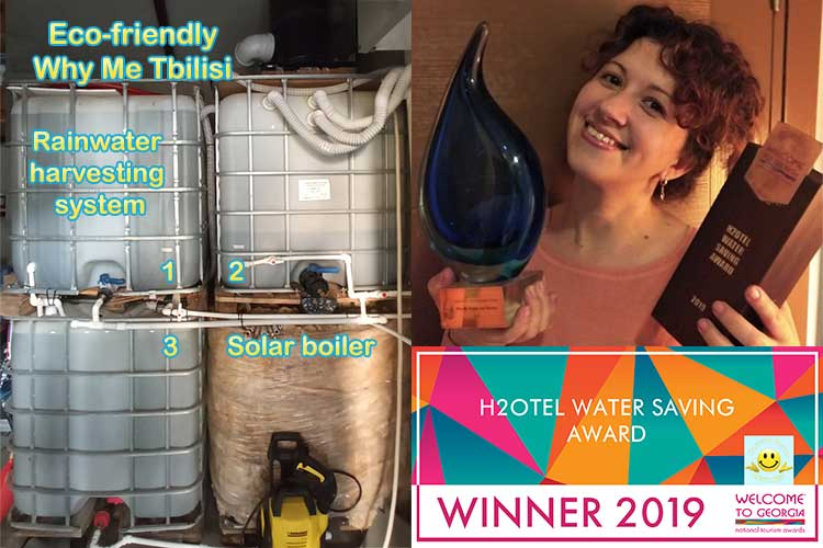 Why Me Tbilisi is the winner of the H2Otel Water Saving Award